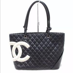 991b331d2062fa Authentic Chanel Cambon line Black leather Bag